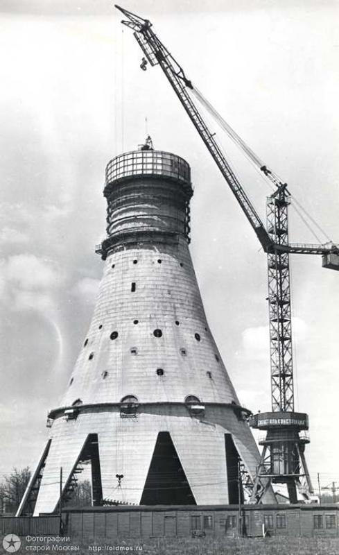 450 18 кадров о том, как строили Останкинскую башню