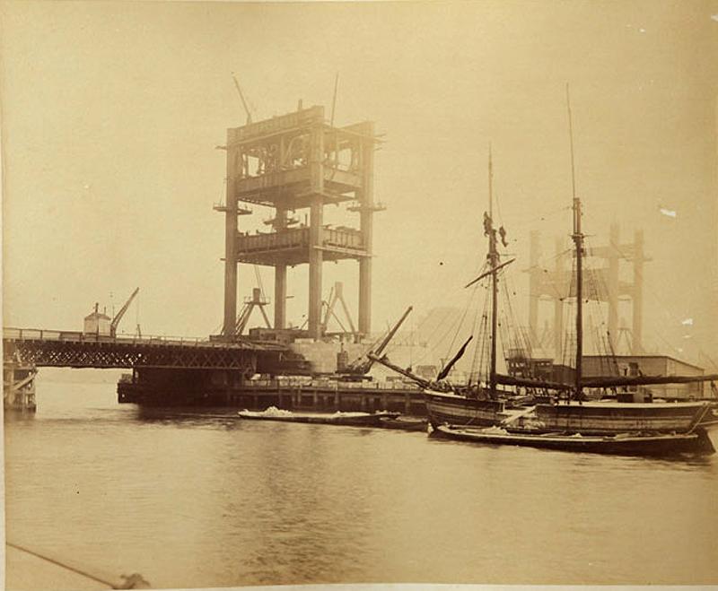 5 Как строился Тауэрский мост
