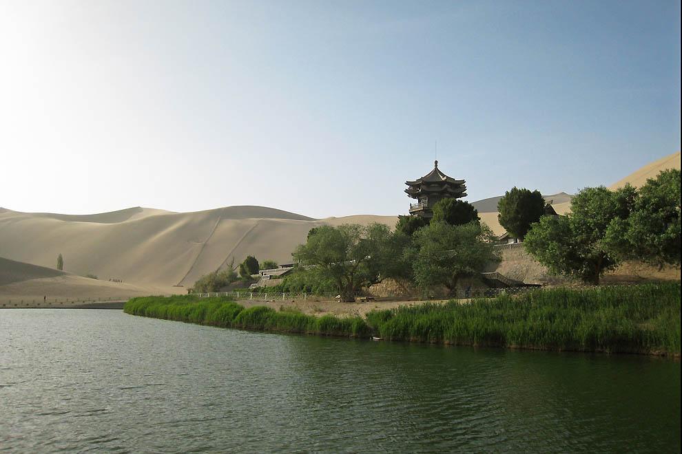 510 Озеро полумесяц   китайский оазис в пустыне