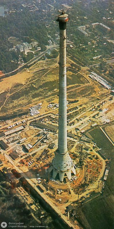 548 18 кадров о том, как строили Останкинскую башню