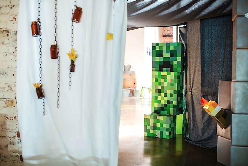 62 Свадьба в стиле игры Minecraft