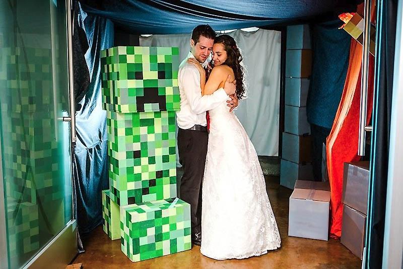 64 Свадьба в стиле игры Minecraft