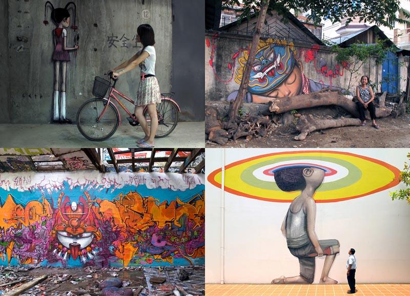 Уличные рисунки арт-хулигана Seth