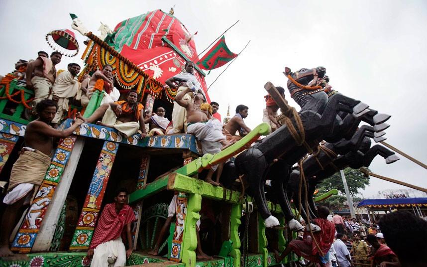 Ratha Yatra7 Праздник Ратха ятра в Индии