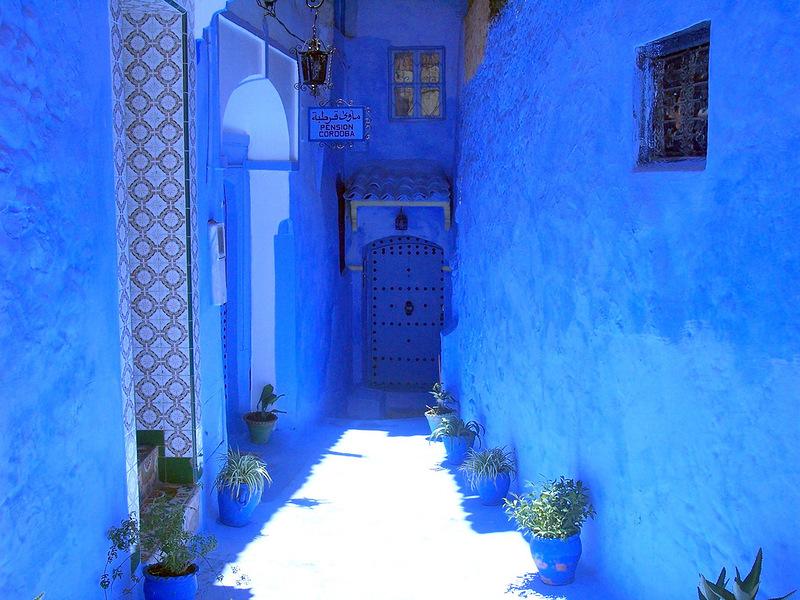 Голубой город Шефшауен Blue-19