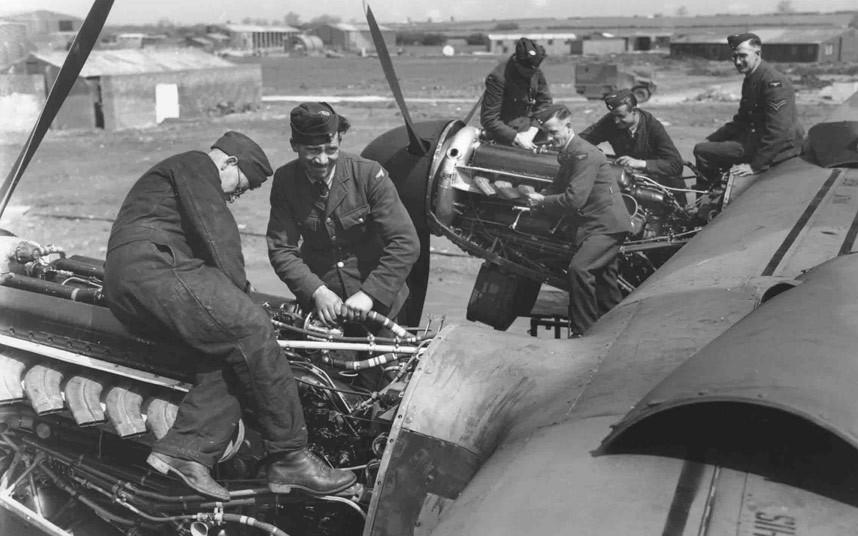 bomber command08 Экипажи бомбардировщиков Королевских ВВС Великобритании времён Второй Мировой