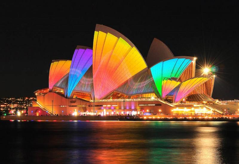 Фестиваль света в Сиднее