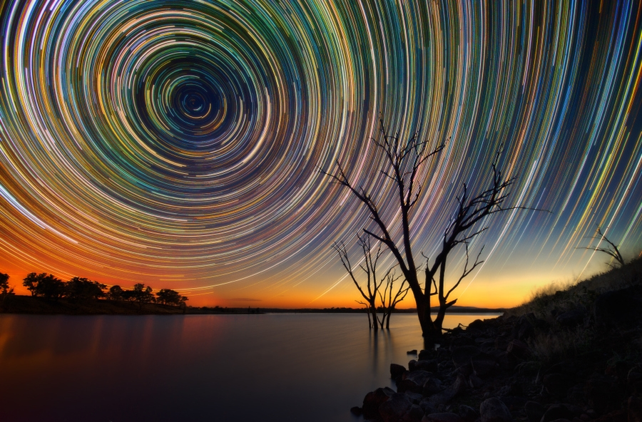 startrails07 Путешествия звёзд по ночному небу Австралии
