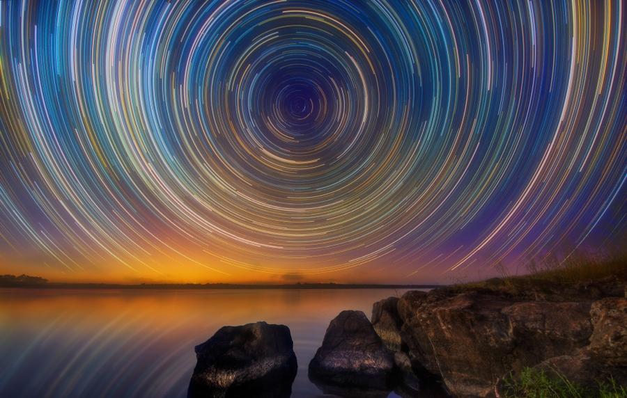 startrails09 Путешествия звёзд по ночному небу Австралии