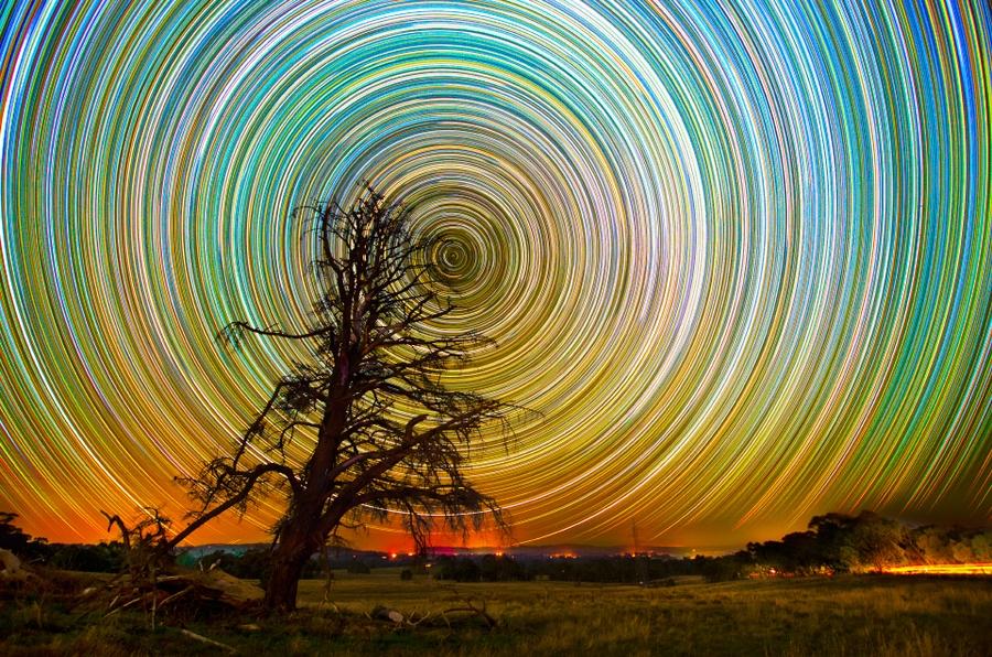 startrails14 Путешествия звёзд по ночному небу Австралии