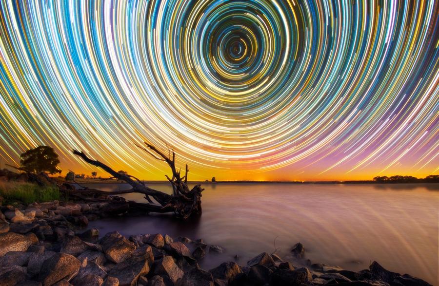 startrails16 Путешествия звёзд по ночному небу Австралии