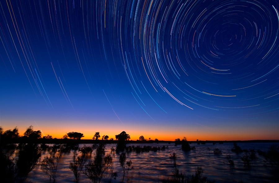 startrails17 Путешествия звёзд по ночному небу Австралии