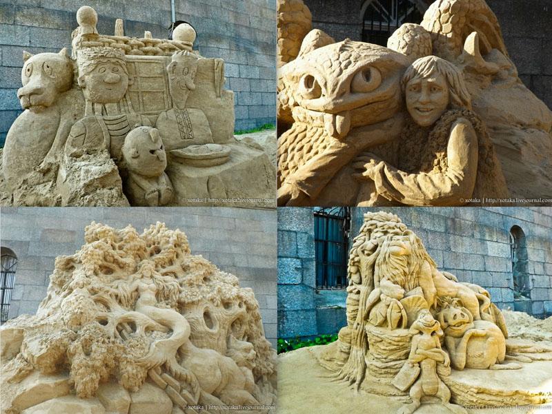 Скульптуры из песка 2012: «Мульт-остров»