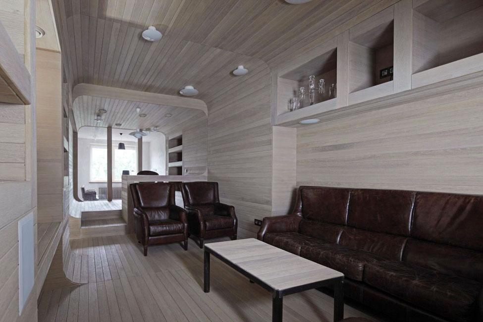 Деревянная квартира в Москве