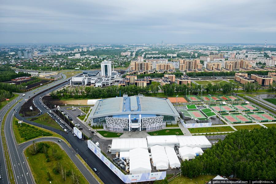 223 Казань с вертолёта: Объекты Универсиады
