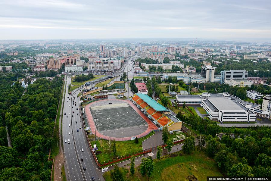 242 Казань с вертолёта: Объекты Универсиады