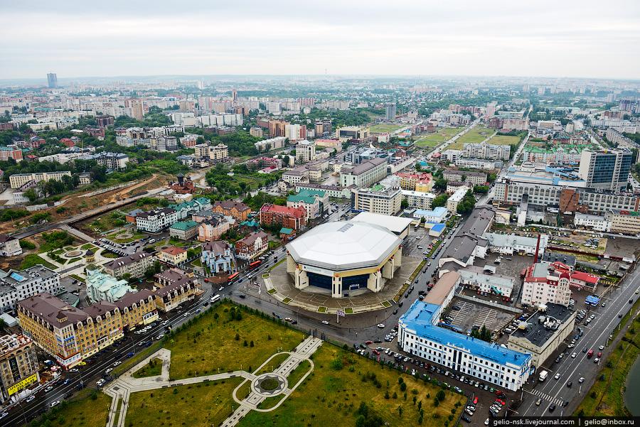 252 Казань с вертолёта: Объекты Универсиады