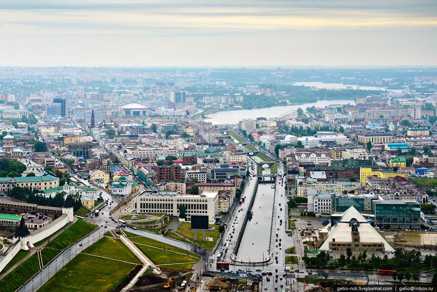 37 Казань с вертолёта: Объекты Универсиады