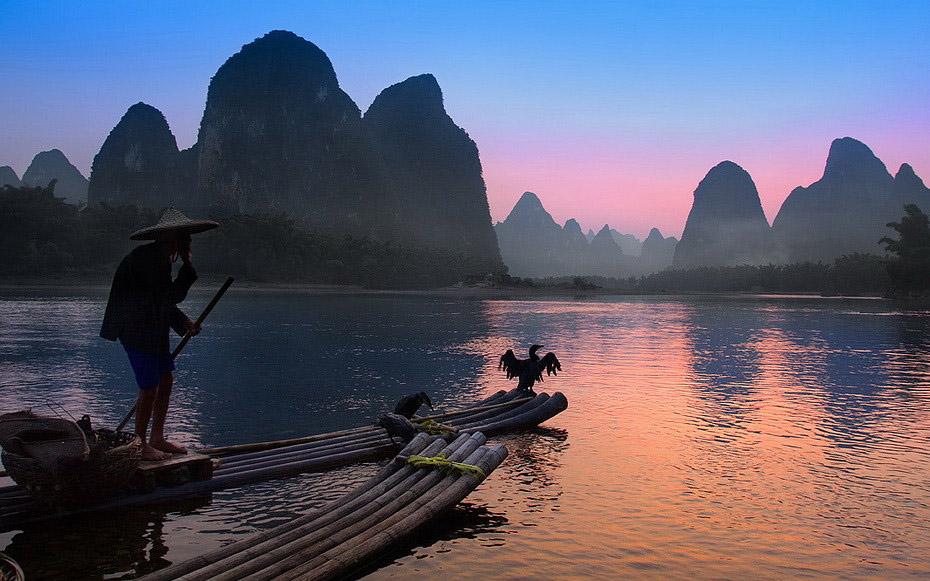 455 Традиционная китайская рыбалка с бакланами