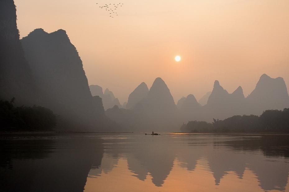 732 Традиционная китайская рыбалка с бакланами
