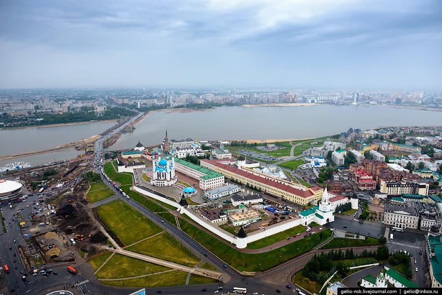 87 Казань с вертолёта: Объекты Универсиады