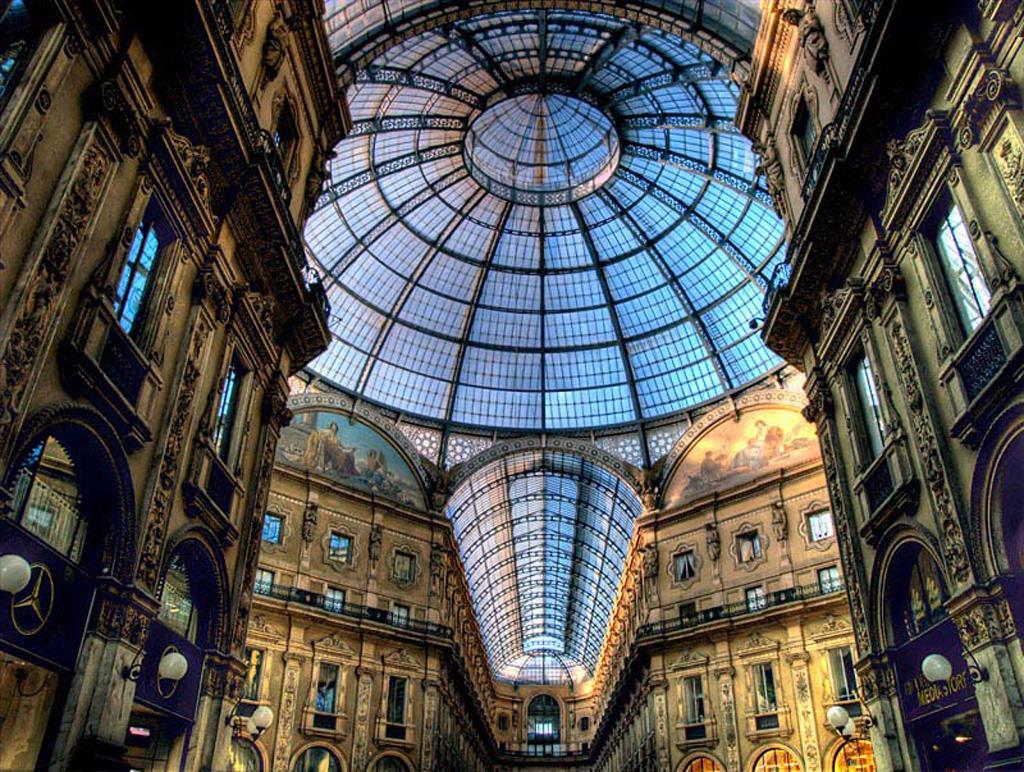 GlassCoveredStreet 1 Миланская улица под куполом