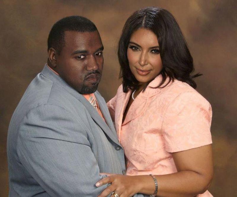 Kanye West and Kim Kardashian Если бы знаменитости выглядели как обычные люди. Юмористический фотопроект Дэнни Эванса