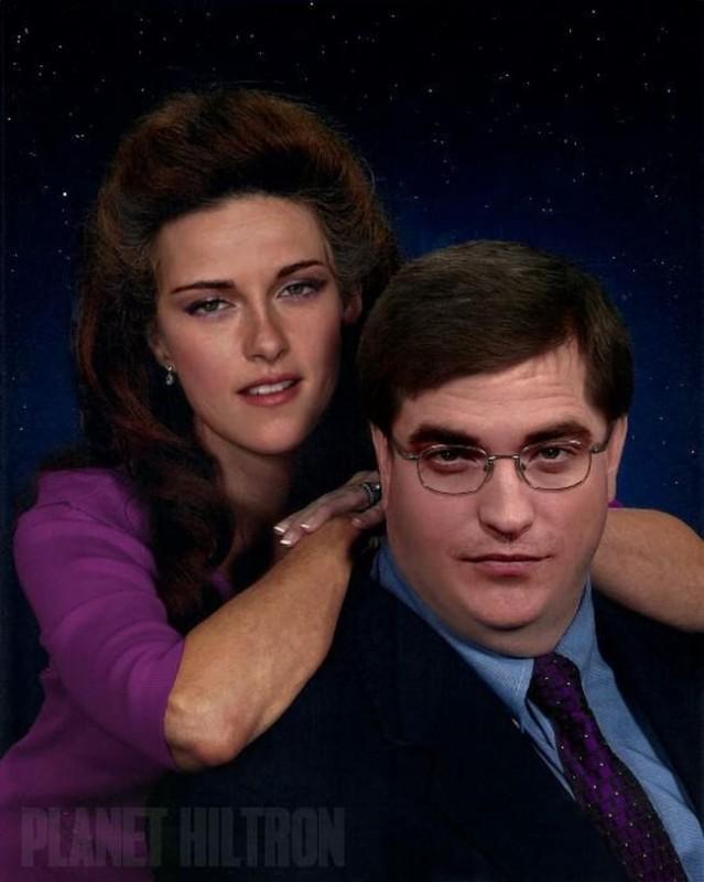 Kristen Stewart and Robert Pattinson 639x800 Если бы знаменитости выглядели как обычные люди. Юмористический фотопроект Дэнни Эванса