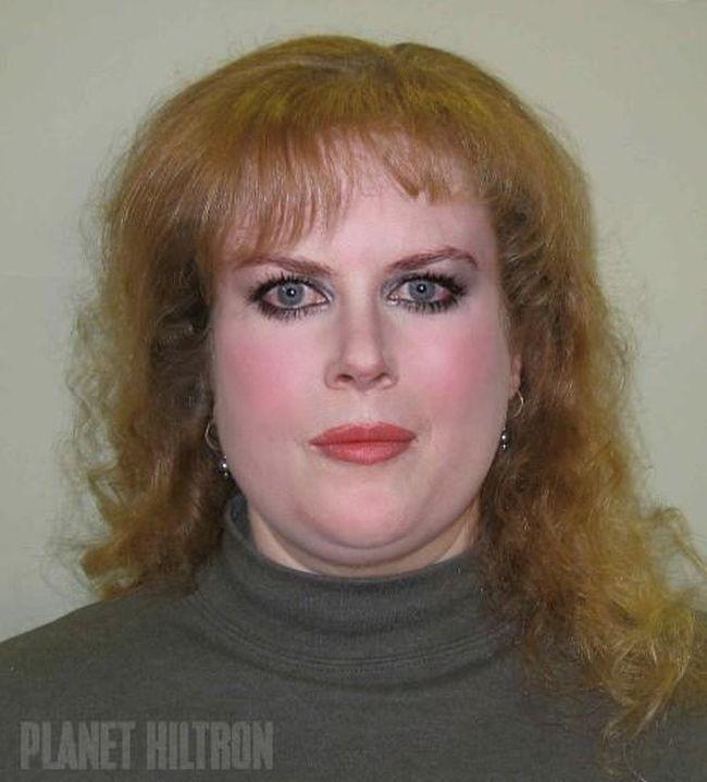 Nicole Kidman Если бы знаменитости выглядели как обычные люди. Юмористический фотопроект Дэнни Эванса