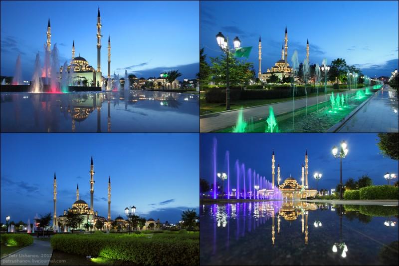 Грозный — Мечеть «Сердце Чечни» и виды сверху