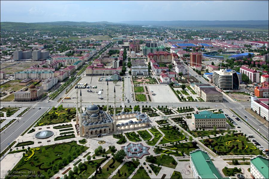 SerdceChechni 1 Грозный   Мечеть Сердце Чечни и виды сверху