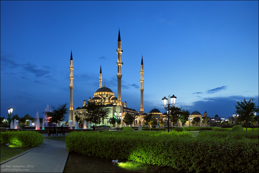 SerdceChechni 11 Грозный   Мечеть Сердце Чечни и виды сверху