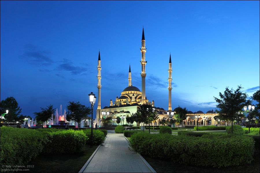 SerdceChechni 12 Грозный   Мечеть Сердце Чечни и виды сверху