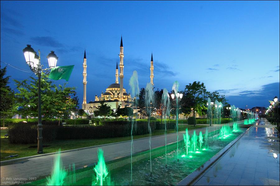 SerdceChechni 13 Грозный   Мечеть Сердце Чечни и виды сверху