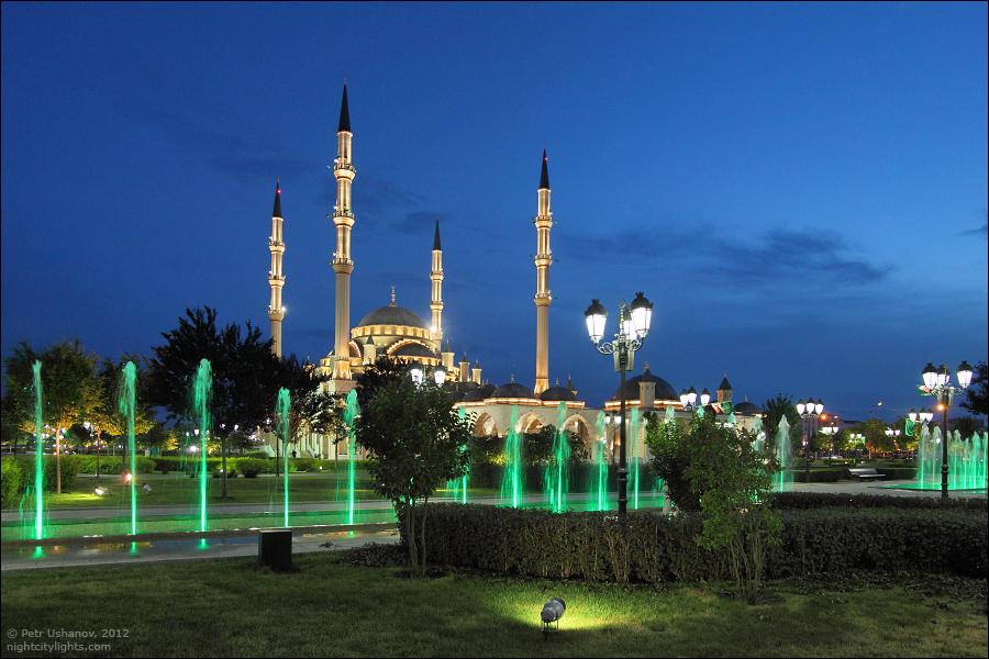 SerdceChechni 14 Грозный   Мечеть Сердце Чечни и виды сверху