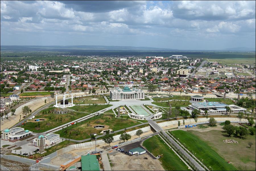 SerdceChechni 2 Грозный   Мечеть Сердце Чечни и виды сверху