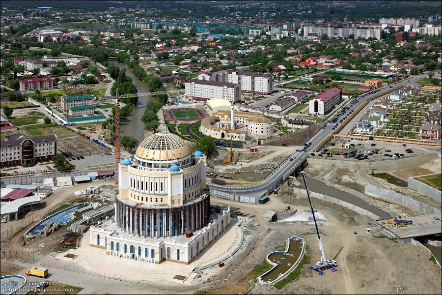 SerdceChechni 3 Грозный   Мечеть Сердце Чечни и виды сверху