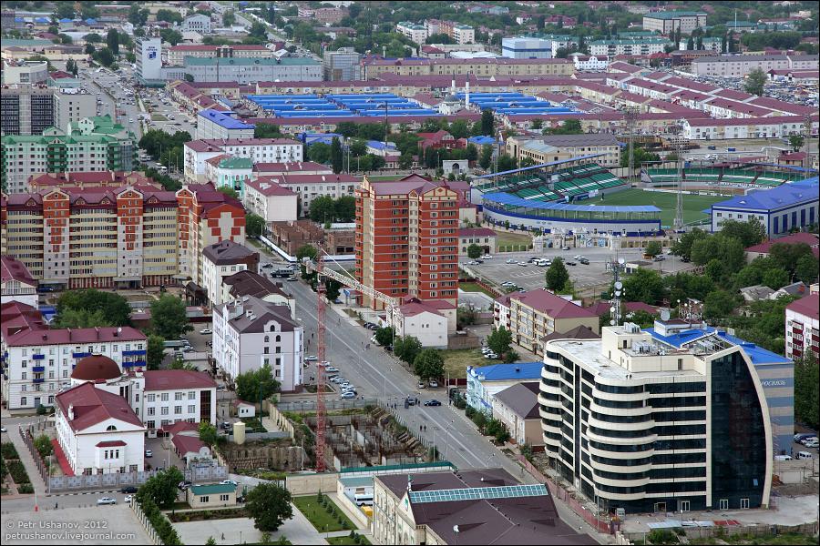 SerdceChechni 5 Грозный   Мечеть Сердце Чечни и виды сверху
