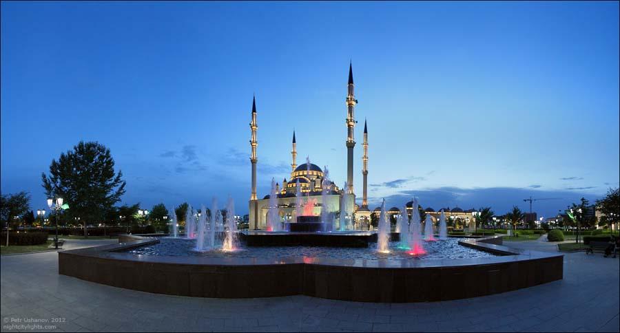 SerdceChechni 8 Грозный   Мечеть Сердце Чечни и виды сверху