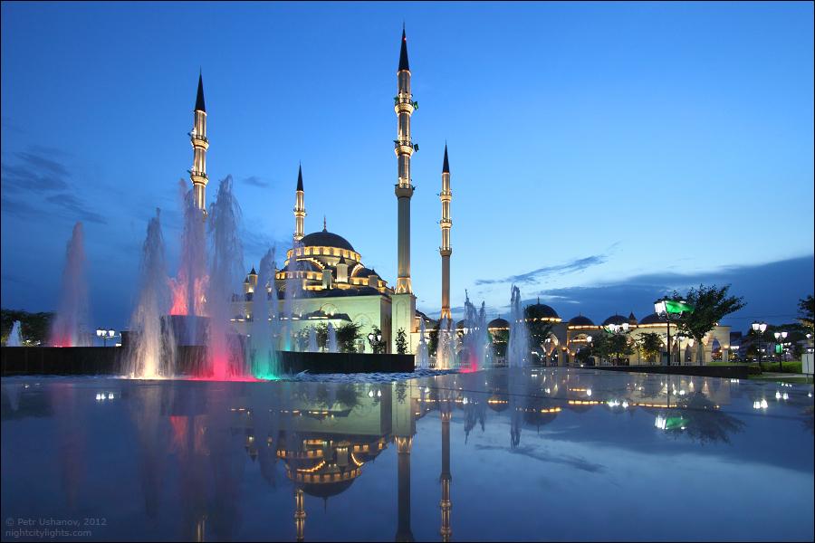SerdceChechni 9 Грозный   Мечеть Сердце Чечни и виды сверху