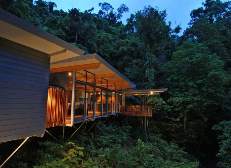 TreeHouse 1 Дом на дереве в тропическом лесу Австралии