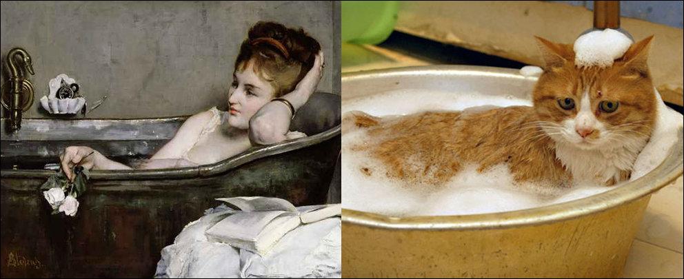 1. Альфред Стивенс, «Женщина в ванне» (1867)