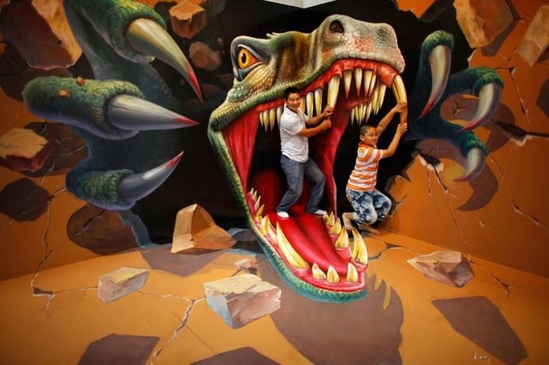 Выставка 3D живописи на Magic Art Special Exhibition Of China2012