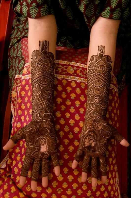 mendi 14 Индия и Индонезия: Кружева, нарисованные хной