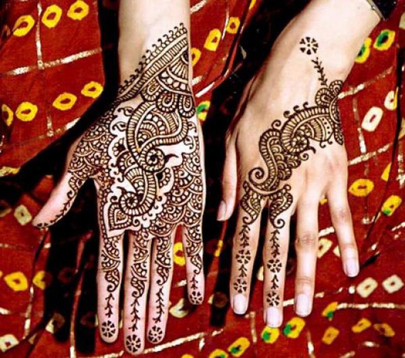 mendi 15 Индия и Индонезия: Кружева, нарисованные хной