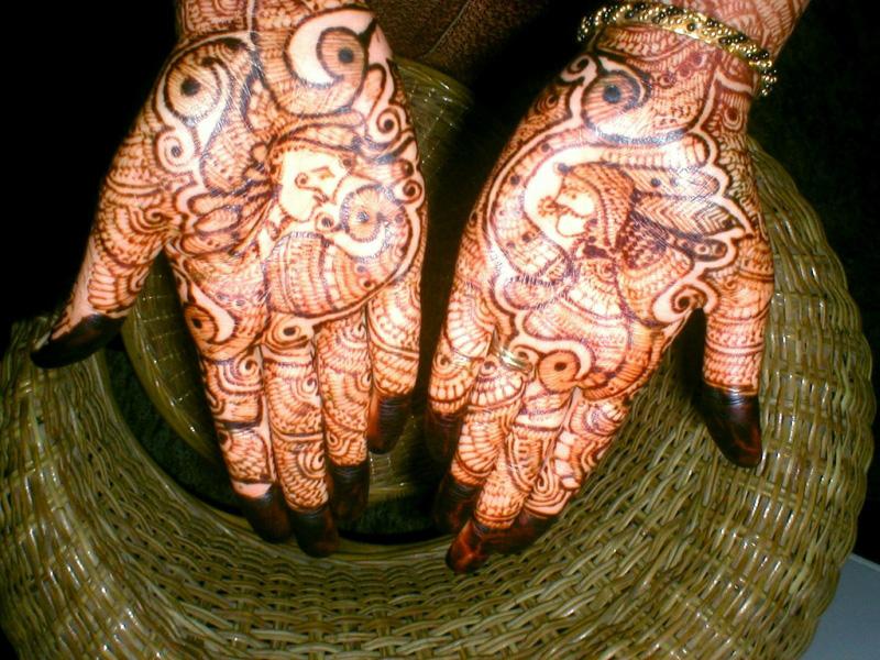 mendi 17 Индия и Индонезия: Кружева, нарисованные хной