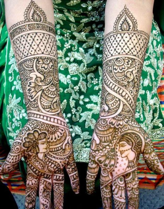 mendi 22 Индия и Индонезия: Кружева, нарисованные хной