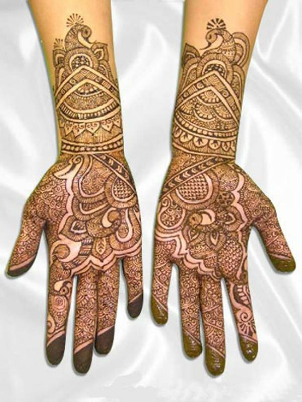 mendi 23 Индия и Индонезия: Кружева, нарисованные хной