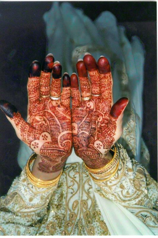 mendi 27 Индия и Индонезия: Кружева, нарисованные хной
