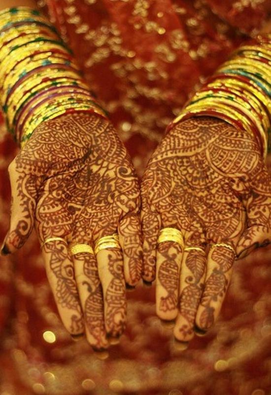 mendi 28 Индия и Индонезия: Кружева, нарисованные хной